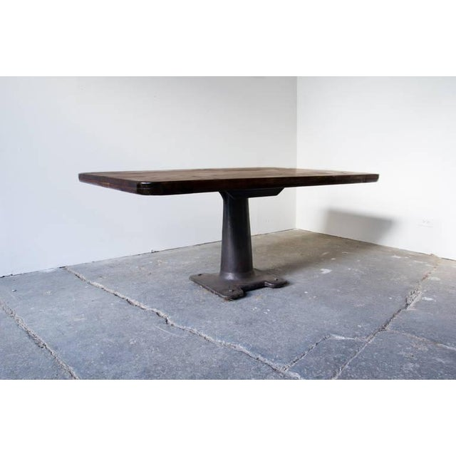 Industrial Machine Base Pedestal Table For Sale - Image 3 of 6