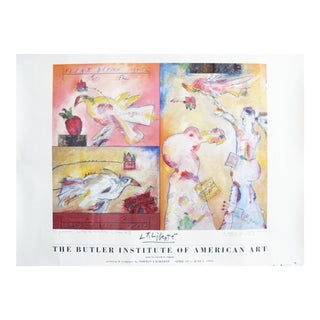 1995 Original Norman Laliberte Butler Institute of American Art, Exhibition Poster