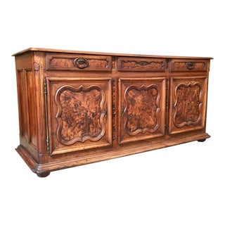 Bresson Early 19th Century Buffet With Burl Wood Panels