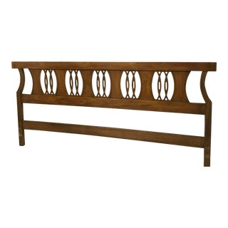 1970s Mid-Century Modern Hickory King Headboard For Sale