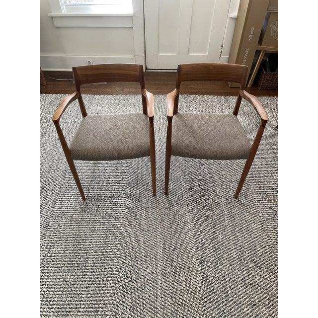 Brown Niels Moller #57 Armchairs - a Pair For Sale - Image 8 of 11