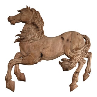 Italian Stamped Hand Carved Horse For Sale