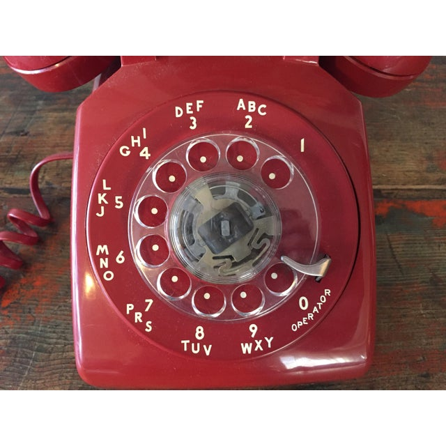 Vintage Red Rotary Telephone - Image 7 of 11