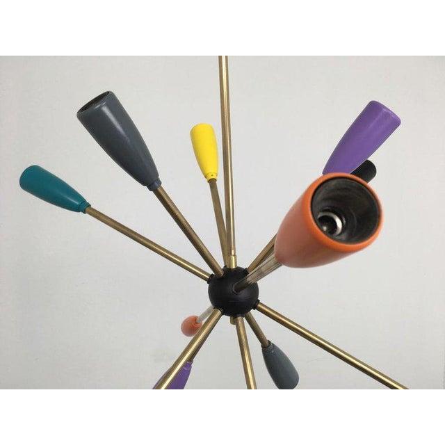 1950s 1950s Sputnik Pendant Chandelier Lamp in Different Colors For Sale - Image 5 of 12