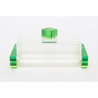 Charles Hollis Jones Colored Lucite Two-Part Box Preview