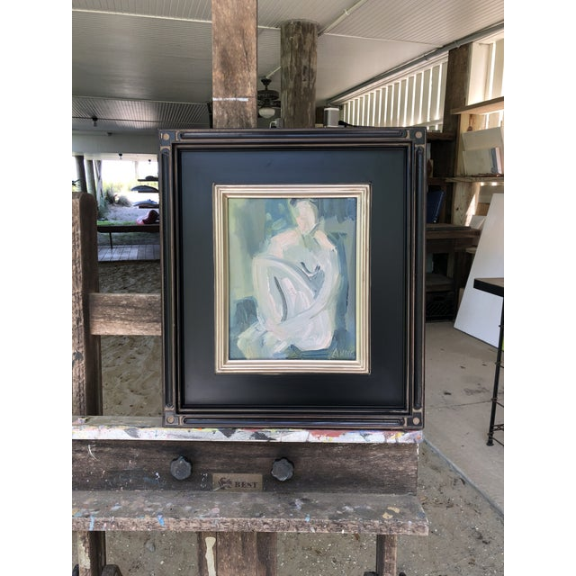 """Abstract Cool Abstract """"Figure at Dusk I"""" by Anne Darby Parker For Sale - Image 3 of 3"""