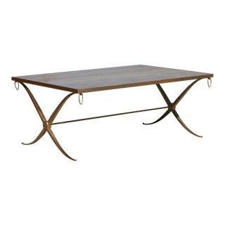 Gilt Iron Coffee Table by Barbara Barry For Sale