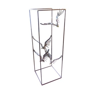 Curtis Jere Caged Eagles in Flight Sculpture For Sale