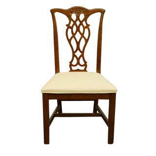Late 20th Century Universal Furniture Chippendale Style Side Chair For Sale
