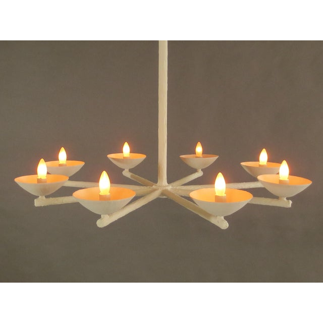 Plaster Spoke Chandelier With White Finish For Sale - Image 9 of 11