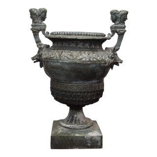 Louis XIV Style Bronze Garden Urn For Sale