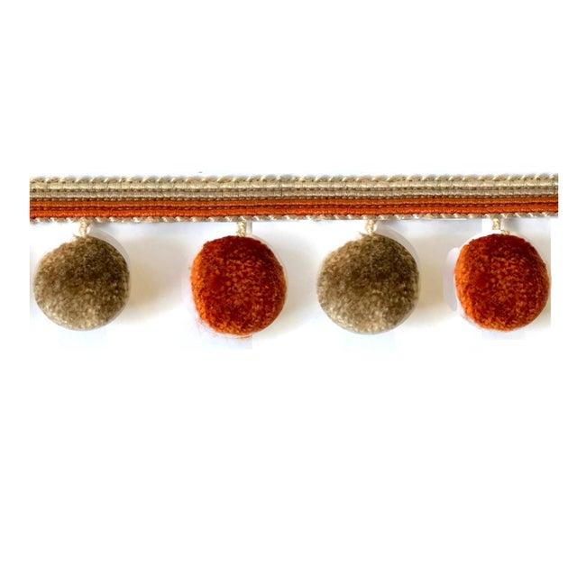 Pompom Tassel Fringe - 6.75 Yard Length For Sale - Image 4 of 8