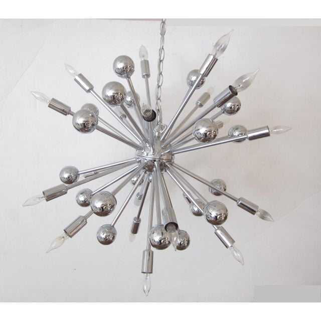 1950s vintage chrome sputnik chandelier chairish 1950s vintage chrome sputnik chandelier image 3 of 6 mozeypictures Image collections