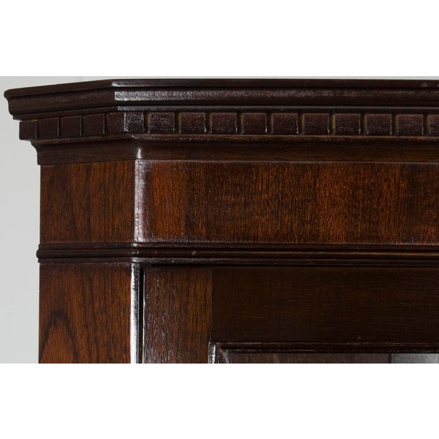 1960s Georgian Mahogany Narrow Bow Front Corner Cabinet Cupboard For Sale - Image 11 of 12