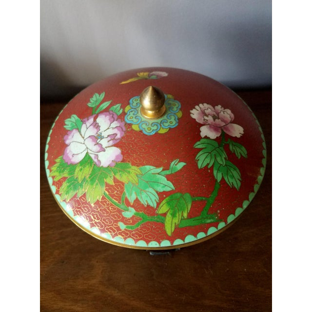 Chinese Cloisonne Bowl on Stand - Image 9 of 11