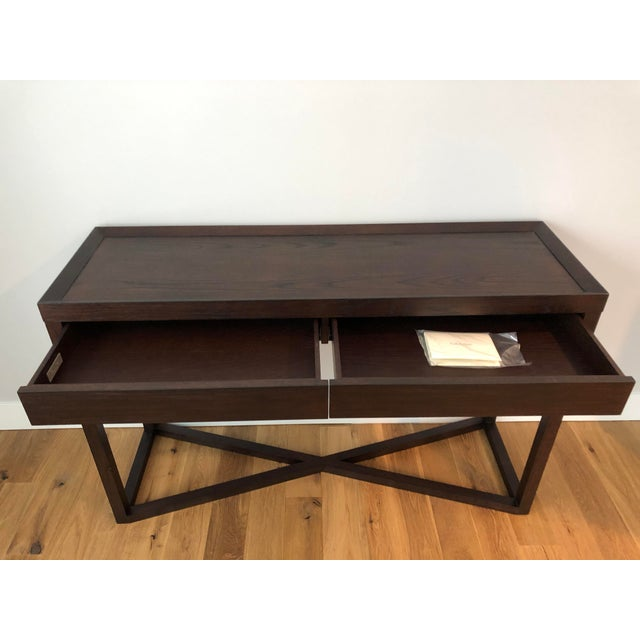 Modern Calvin Klein Console Table With Storage For Sale In South Bend - Image 6 of 12
