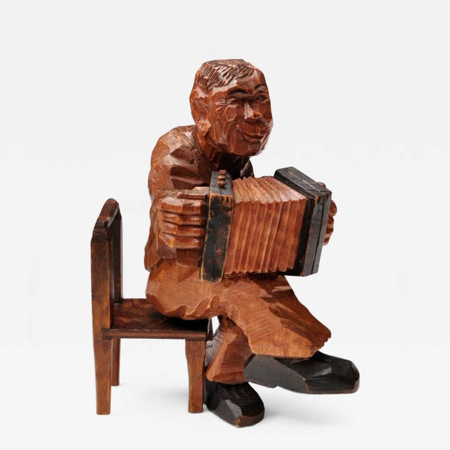 Accordion Player in German Expressionist Style For Sale - Image 11 of 11