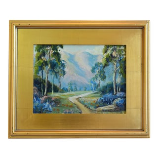 Artist Marie Buck Plein Air Framed Landscape Oil Painting For Sale