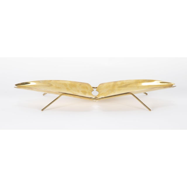 1950s Brass Tray Designed by Kupetz for Wmf For Sale - Image 5 of 6
