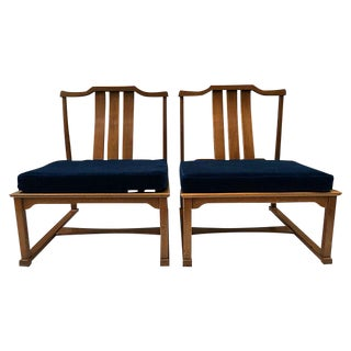 Edward Wormley for Dunbar Low Lounge Chairs - A Pair