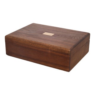 Oak and Brass Humidor C.1960 For Sale