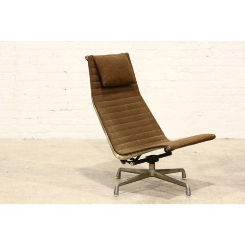 Vintage Aluminium Group Lounge Chair and Ottoman - Image 4 of 6