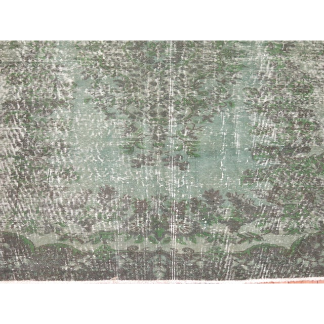 Turkish Medallion Overdye Rug - 6'4'' X 6'9'' - Image 3 of 5