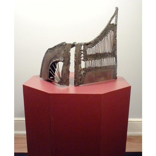 Mid-Century Modern Brutalist Metal Sculpture - Image 3 of 6