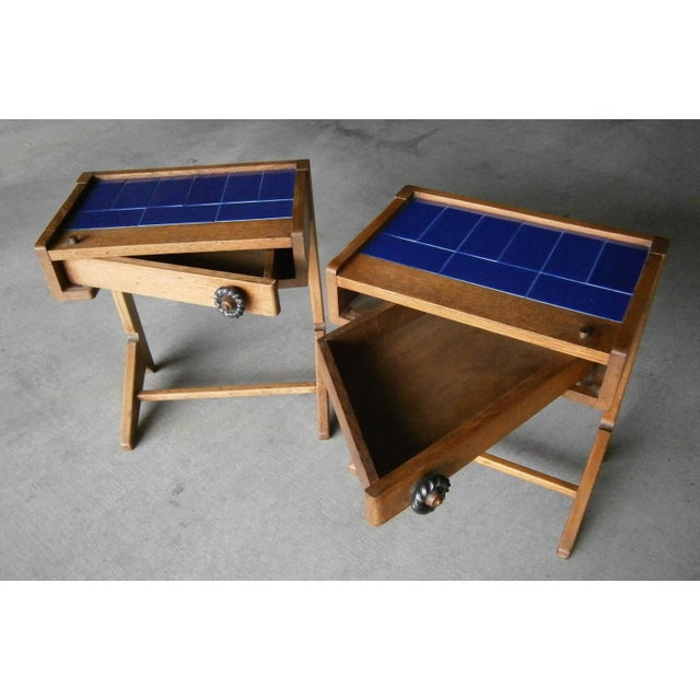 Guillerme & Chambron Vintage Side Tables - A Pair - Image 2 of 6