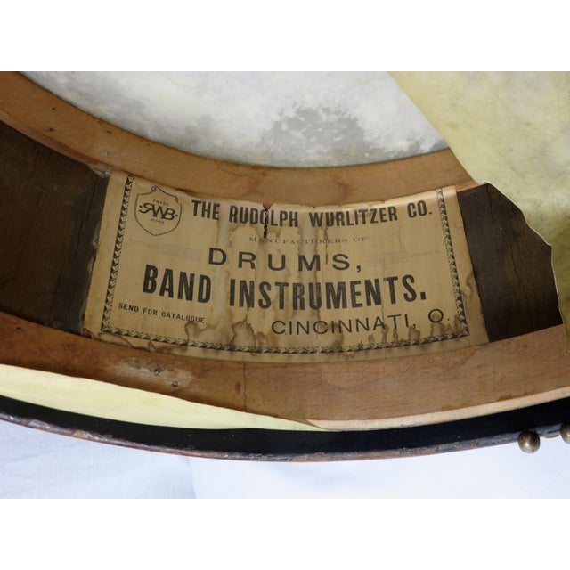 Early 20th Century Antique Parade Marching Snare Drum For Sale - Image 10 of 13