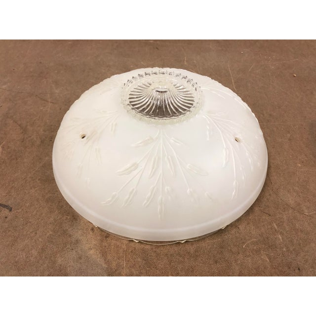 Vintage Art Deco White Frosted Glass Lamp Shade For Sale - Image 13 of 13