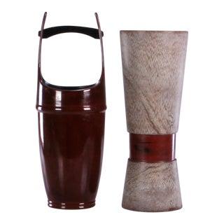 Mid 20th Century Japanese Mid-Century Ikebana Vases - a Pair For Sale