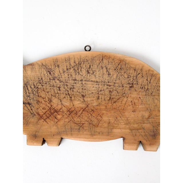 Vintage Wooden Pig Cutting Board For Sale - Image 5 of 7