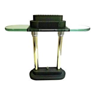 1980s Post-Modern Halogen Desk Lamp in the Style of Sonneman For Sale