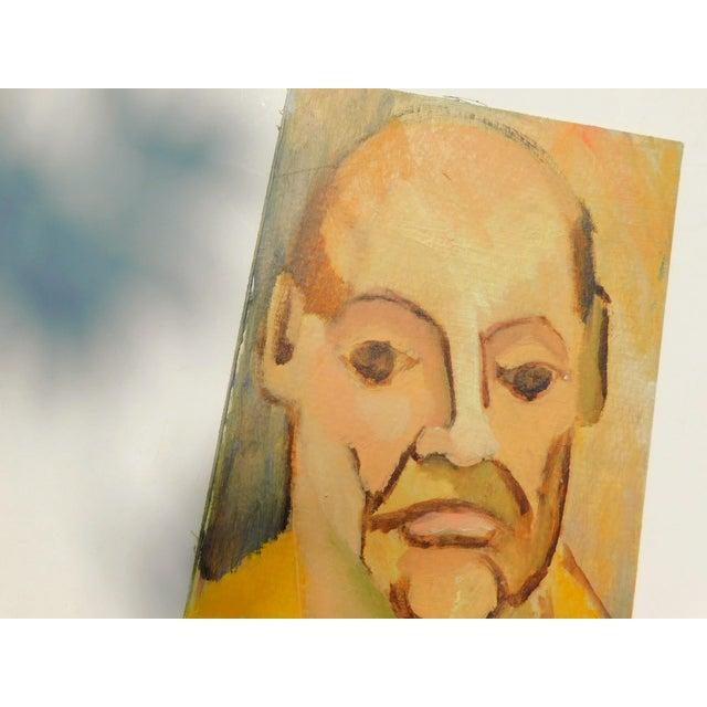 Portraiture Monsieur Vintage Oil Portrait Painting For Sale - Image 3 of 6