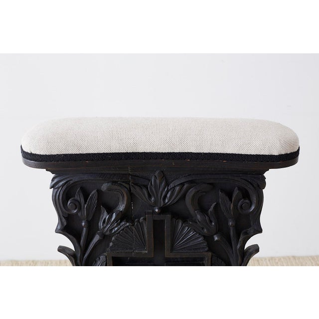 French Napoleon III Oak Prie-Dieu Prayer Chair For Sale In San Francisco - Image 6 of 13