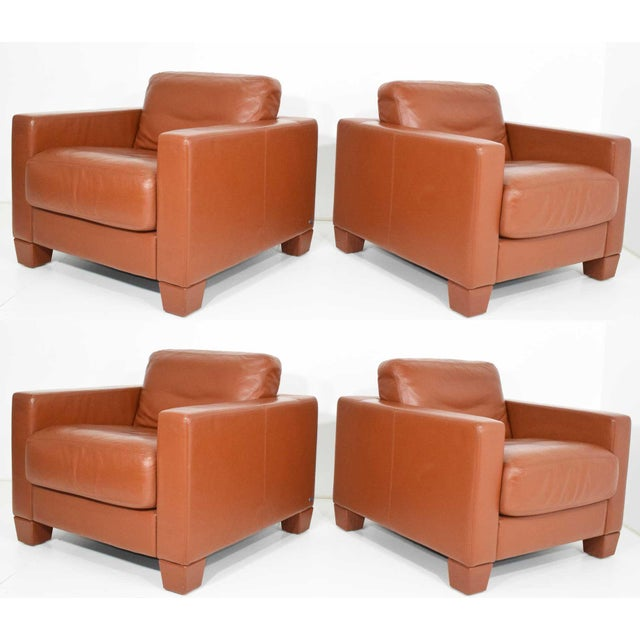 De Sede Leather Lounge Chairs- Set of 4 For Sale - Image 11 of 11