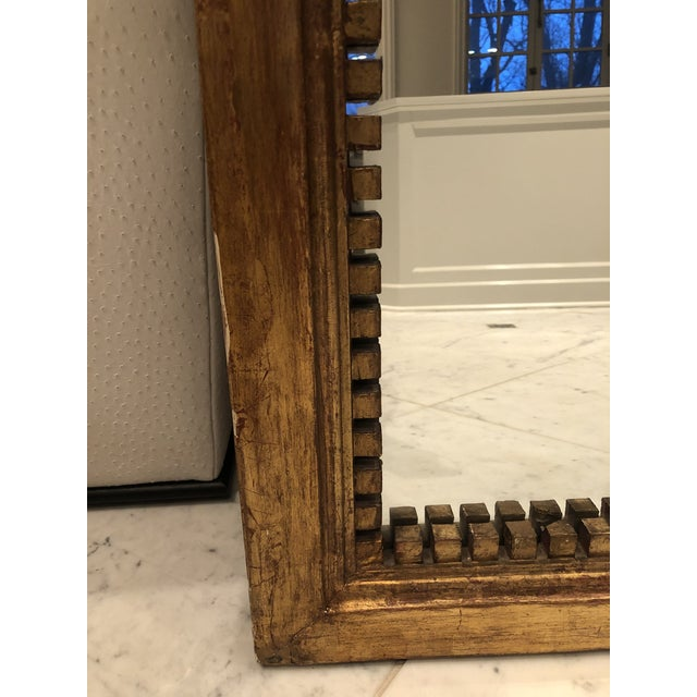 Wood Antique George III Style Pedimented Giltwood Mirror For Sale - Image 7 of 13