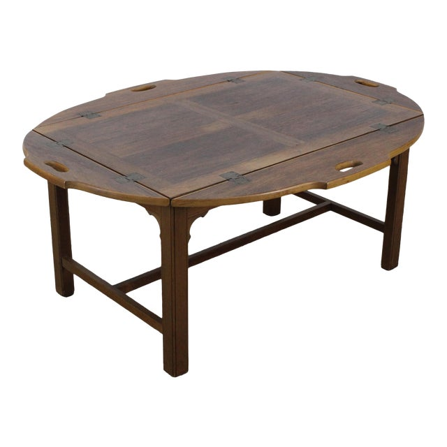 Mid-Century Walnut Tray Table For Sale