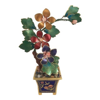 Miniature Enamel and Cloisonne Tree For Sale