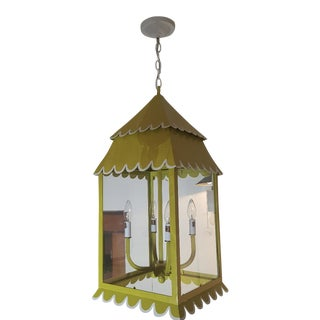 Stray Dog Designs Chartreuse Hanging Lantern For Sale