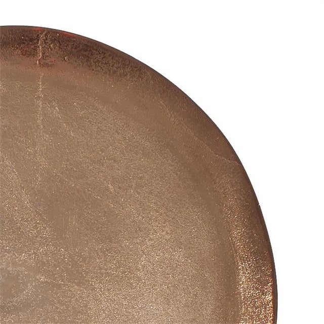 Contemporary Kenneth Ludwig Bronze Aluminum Organic Round Footed Plate For Sale - Image 3 of 5