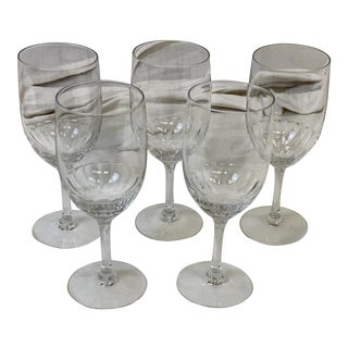 1960s Fosteria Venus Handblown Water Goblets - Set of 5 For Sale