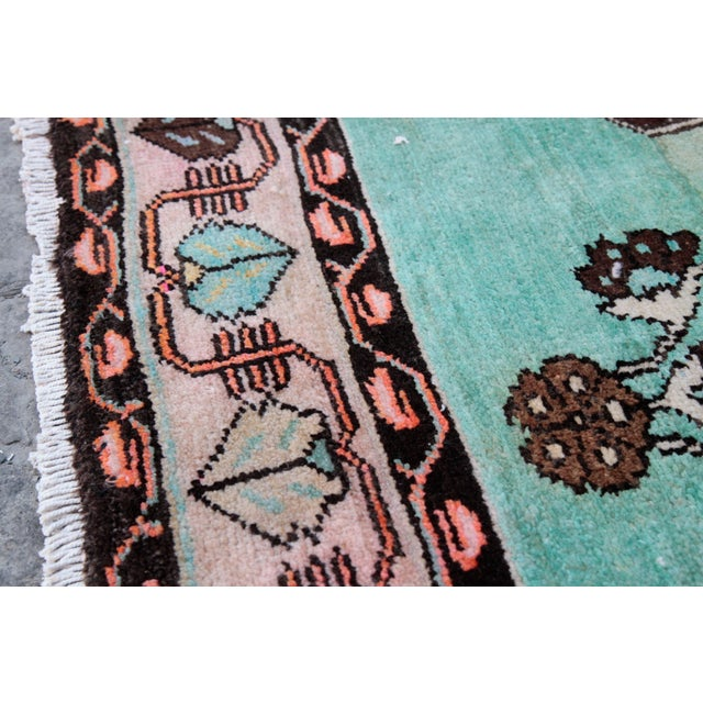 1980s Vintage Handmade Double-Knotted Turkish Rug - 9' 6'' X 5' 11'' For Sale - Image 12 of 13