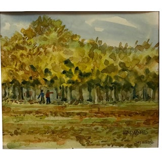 Original Expressionist Landscape Watercolor Painting by Bob Ragland For Sale