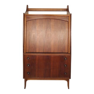 Mid-Century Drop Front Cabinet and Desk For Sale