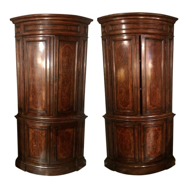 "Louis Philippe Pairs of ""encoinures"" Corner Cabinets a Pair For Sale"