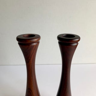 Rosewood Candle Holders, a Pair Preview