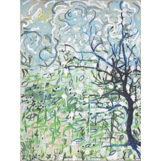 "Alex K. Mason ""Blue Tree"" Painting For Sale"