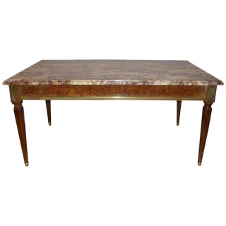 Maison Jansen Louis XVI Style Marble-Top Coffee Table For Sale